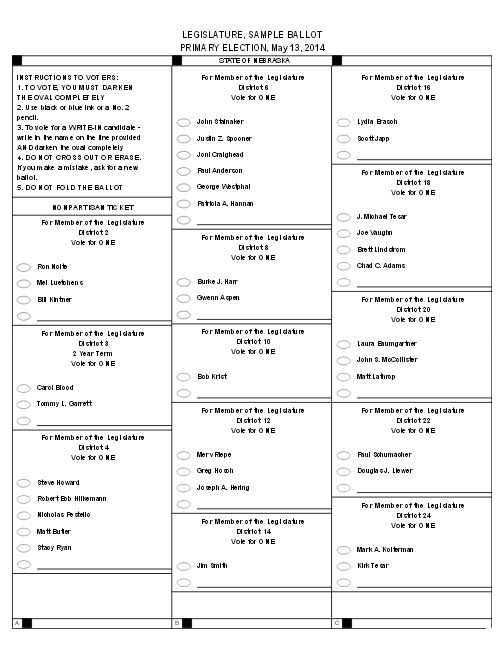 State legislature sample ballot 2014 pg 1