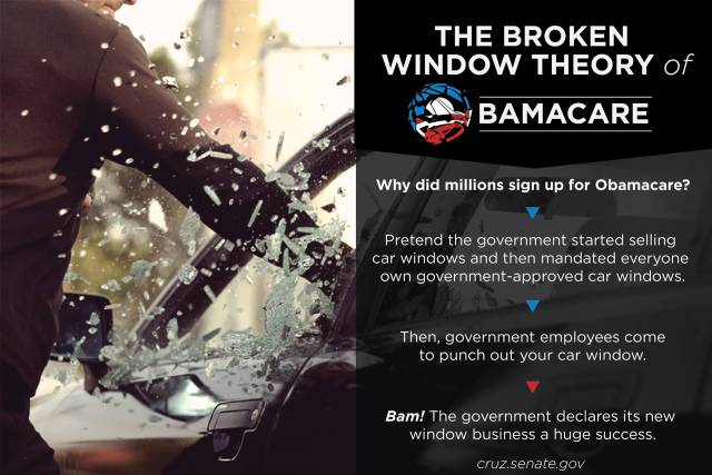 """The """"Broken Window"""" Theory of Obamacare"""
