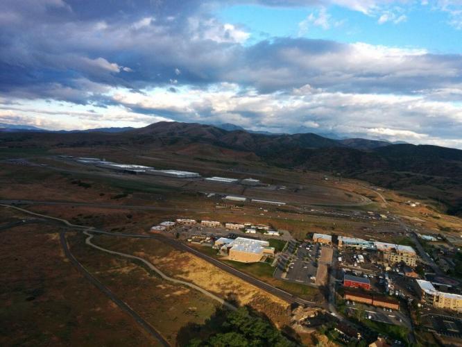 Building Bridges where none existed before: TAC flies blimp over NSA Data Center in Utah