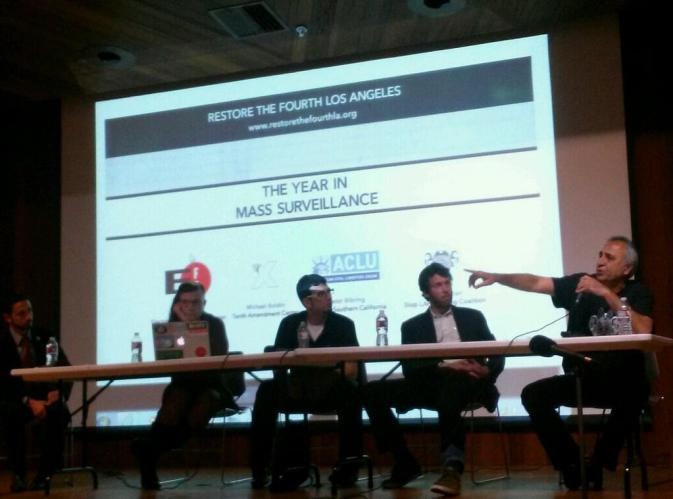 Anti-Surveillance Panel and a Chat with a Reporter Who Dislikes Us