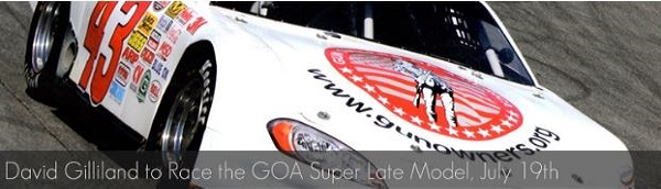 NASCAR's David Gilliland to Drive GOA Car at Irwindale Speedway this Saturday
