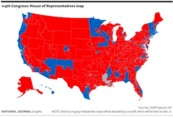 National Journal's 114th Congress Map Click to see a larger version.