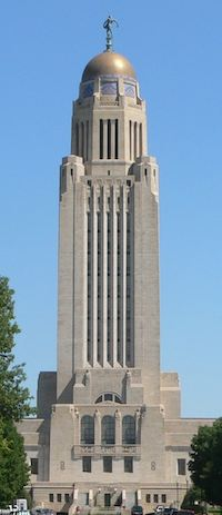 Picture of the Nebraska State Capitol from the south