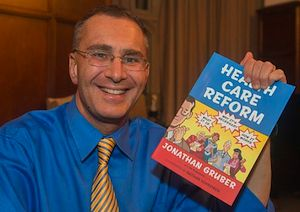 "Click image to read more about Gruber's ""health care reform"" comic book"