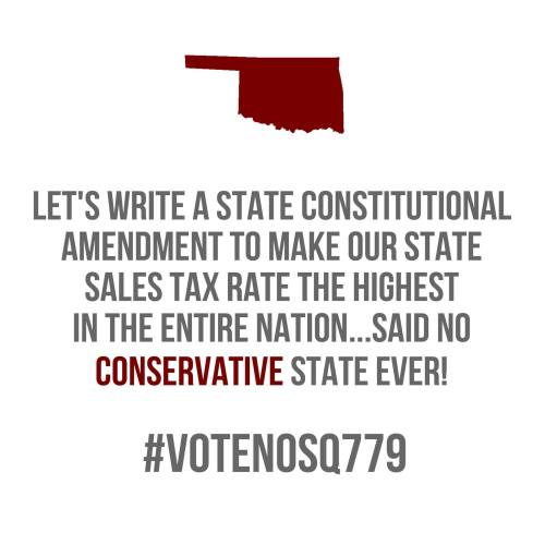 Let's Make Our State Sales Tax Rate the Highest in the Land…