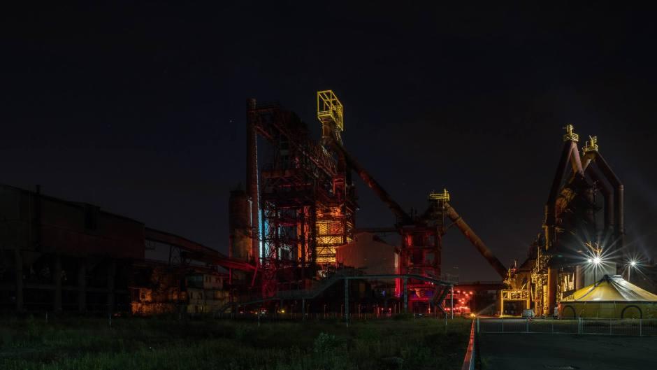 Photo de nuit du U4 à Uckange, prise par Lionnel Thiriat
