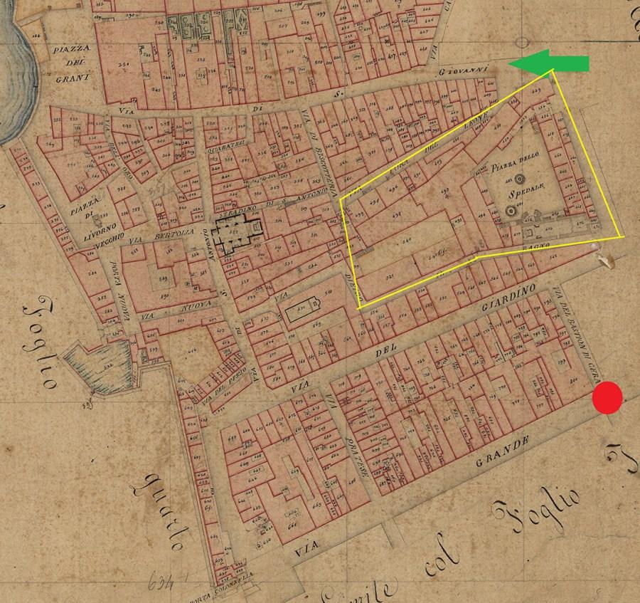Mappa Livorno 1824 CliccaLivorno
