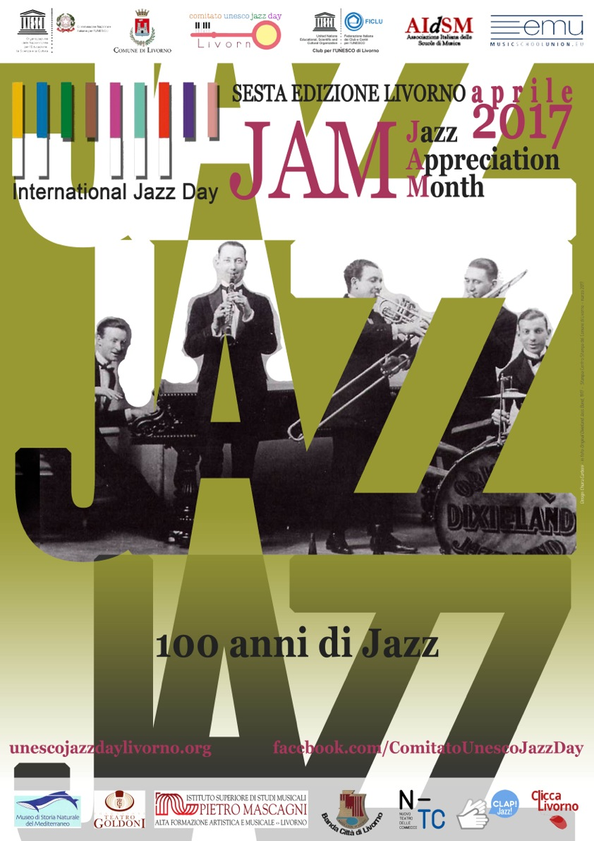 Jazz Appreciation Month UNESCO 2017 - CliccaLivorno