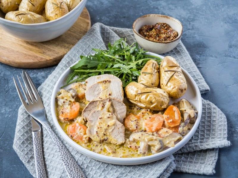 recette filet mignon au four-porc français-sauce moutarde