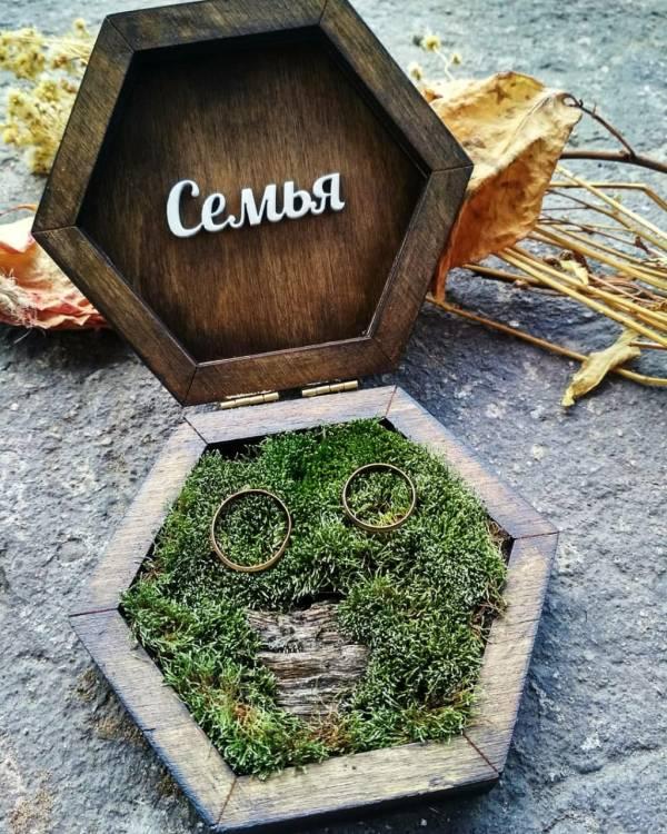 Коробочка из дерева для обручальных колец на заказ