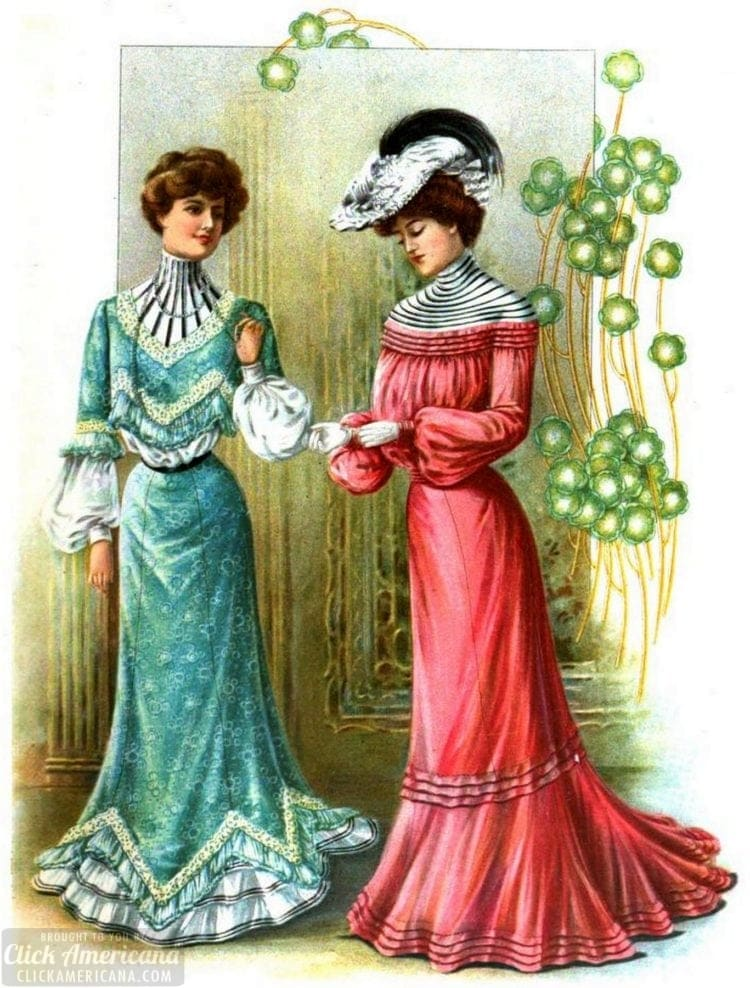 The Delineator bright dresses from 1902