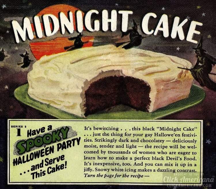 Black Midnight Cake: A creative chocolate retro recipe for a spooky ...