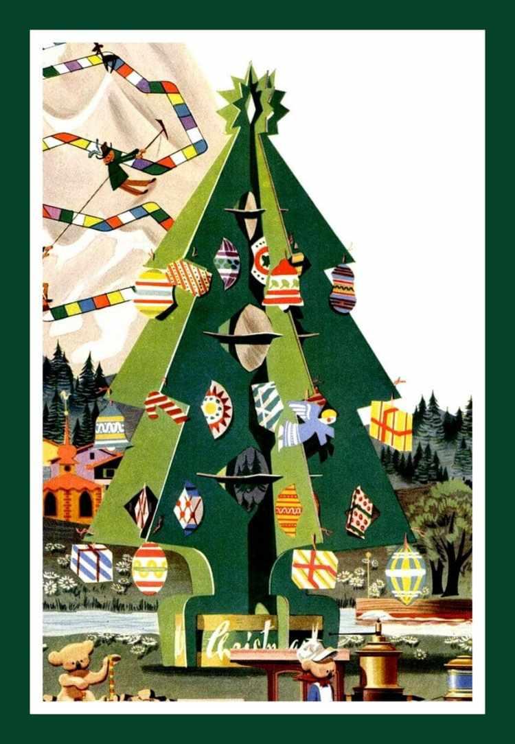 1950s craft christmas tree