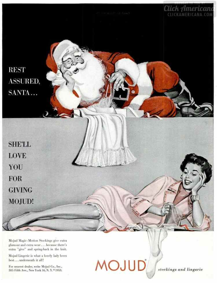 1953 Santa with lingerie