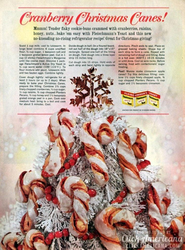 Cranberry Christmas canes & Cinnamon apple canes (1963)
