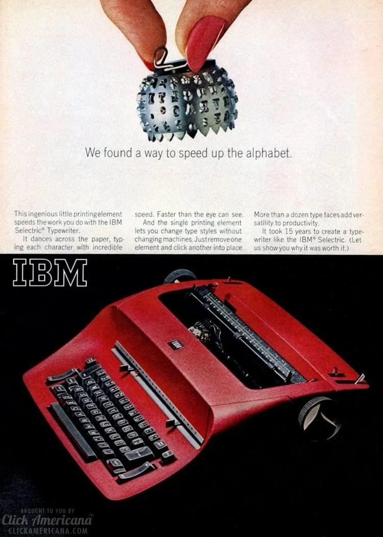 Vintage IBM electric typewriters - Selectric from 1965