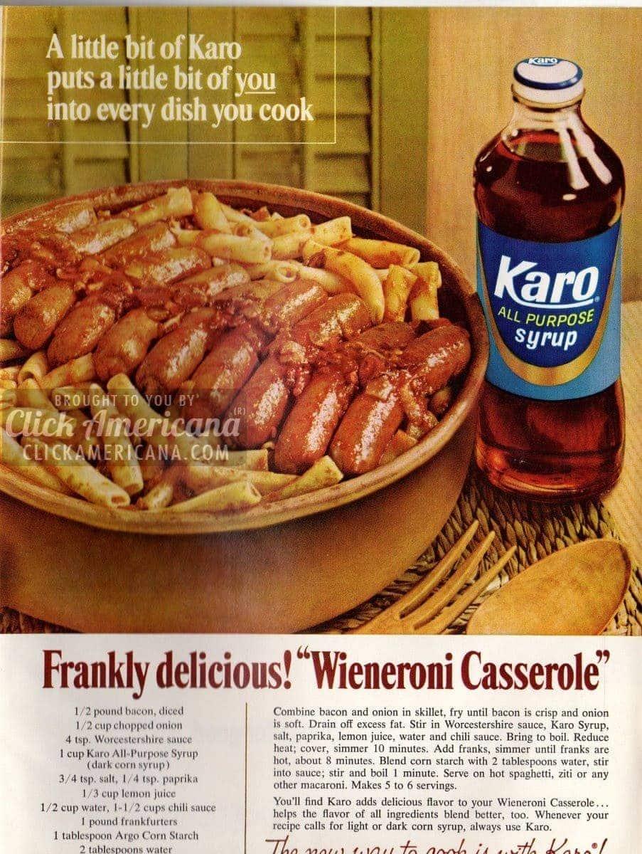 frankly delicious  wieneroni casserole  1966