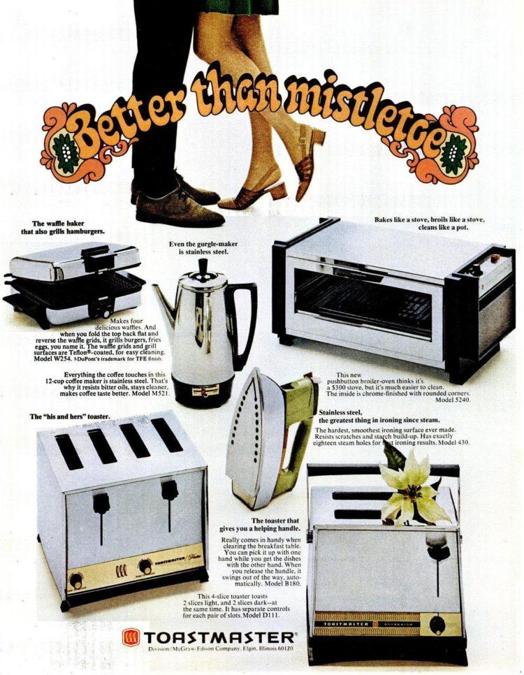 1969 Christmas appliances better than mistletoe