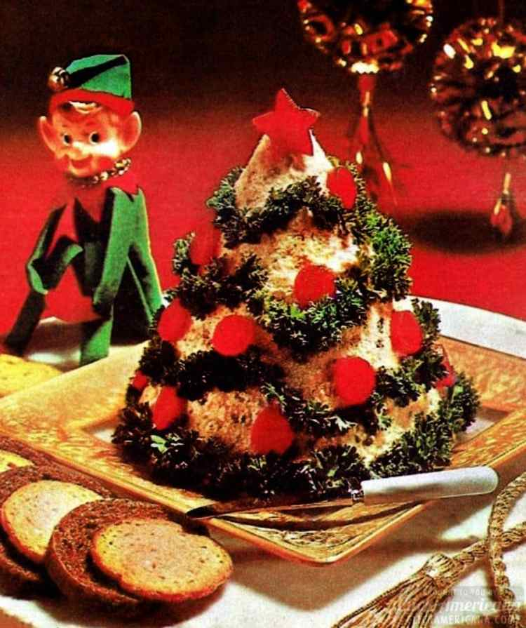 1970s cheese tree appetizer
