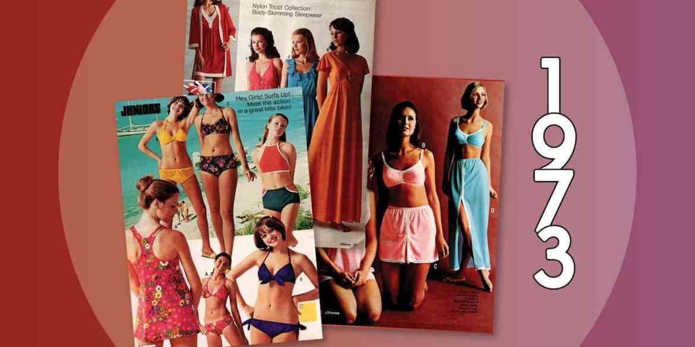 Swimwear, sleepwear & lingerie from the 1973 JC Penney catalog