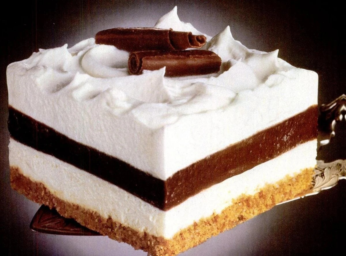 Striped Delight vintage dessert recipe (1985)