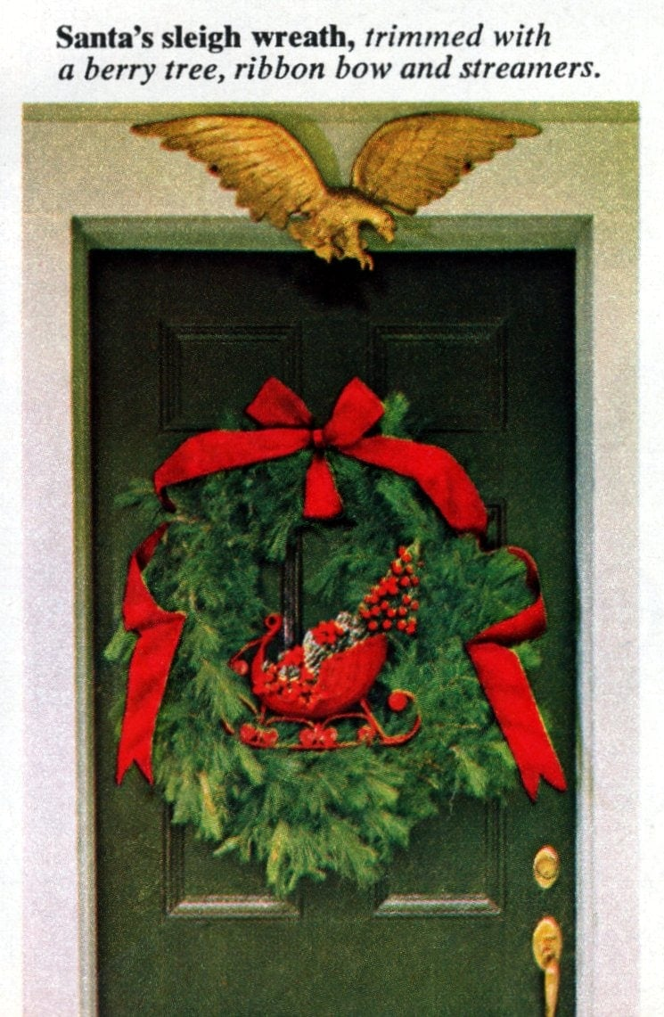 6 beautiful ways to make a welcoming Christmas wreath for your front door - Vintage crafts (3)