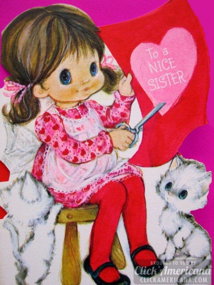Hallmark Valentine cards: To a nice sister
