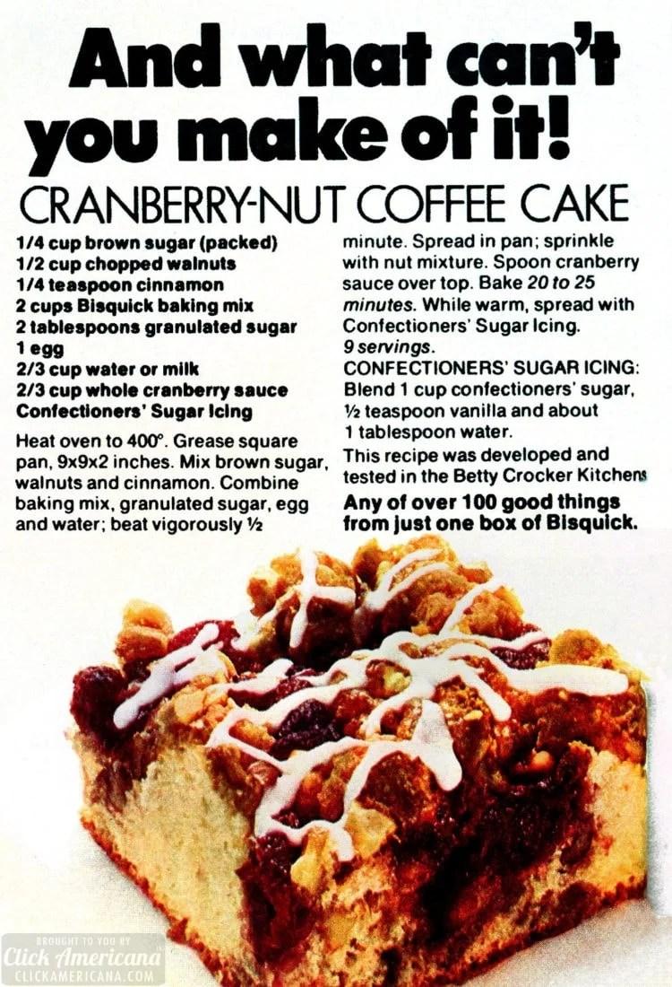 Cranberry-nut coffee cake - just like grandma used to make