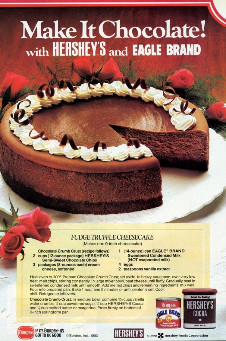 A classic chocolaty fudge truffle cheesecake recipe (2)