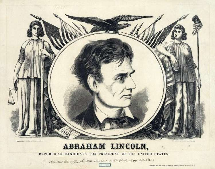 Abraham Lincoln, Republican candidate for president of the United States 1860