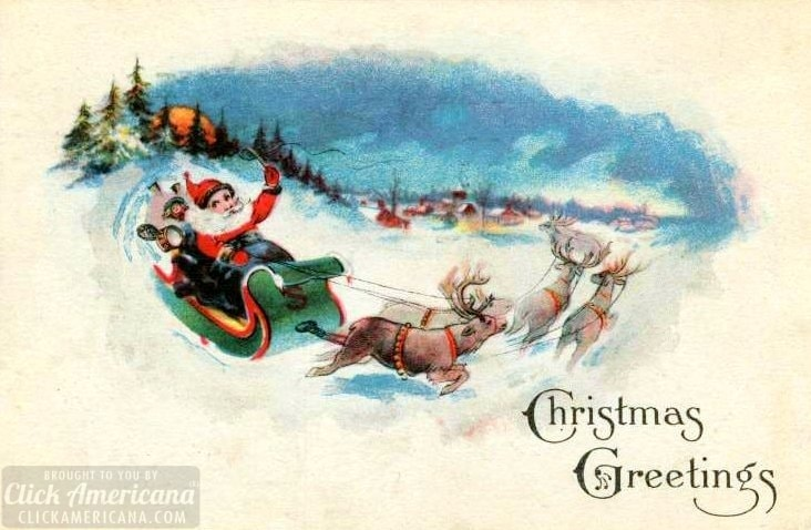 Antique and vintage Christmas postcards from the early 1900s at Click Americana (2)