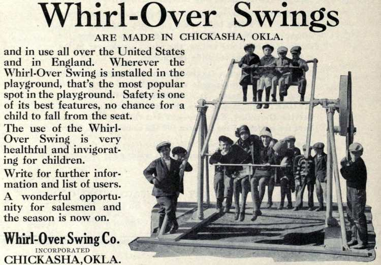Antique playground equipment from the 1920s (1)