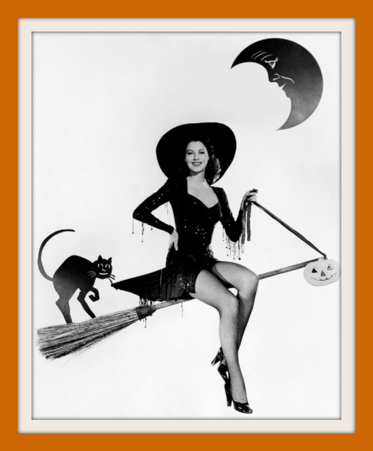 Ava Gardner - Vintage pinup girl for Halloween