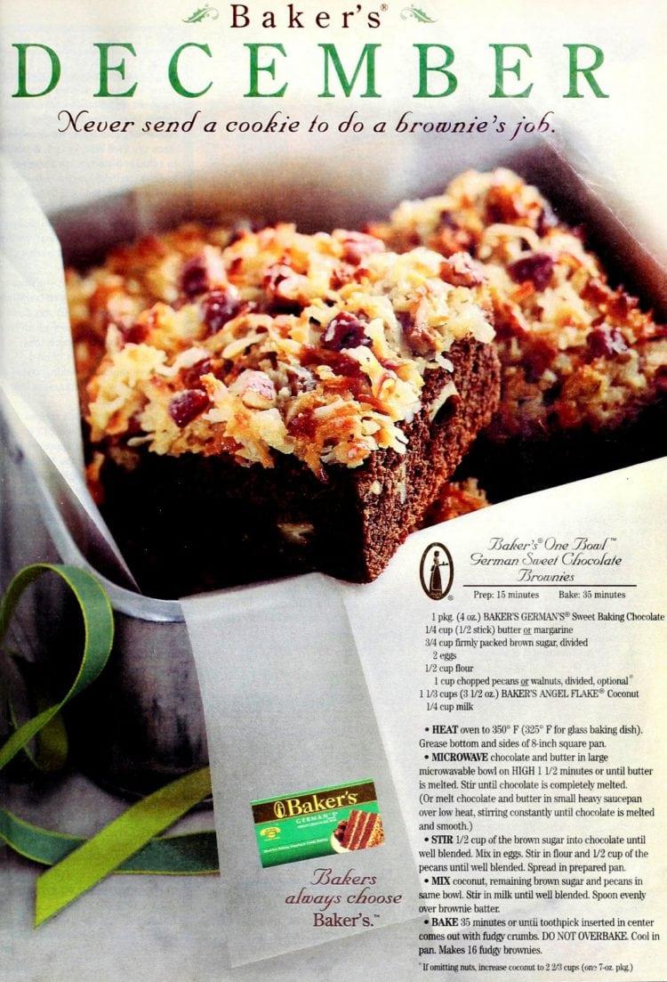 Easy German sweet chocolate brownies!