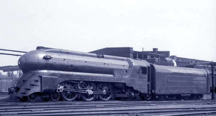 Baltimore and Ohio Railroad - The Royal Blue train c1937
