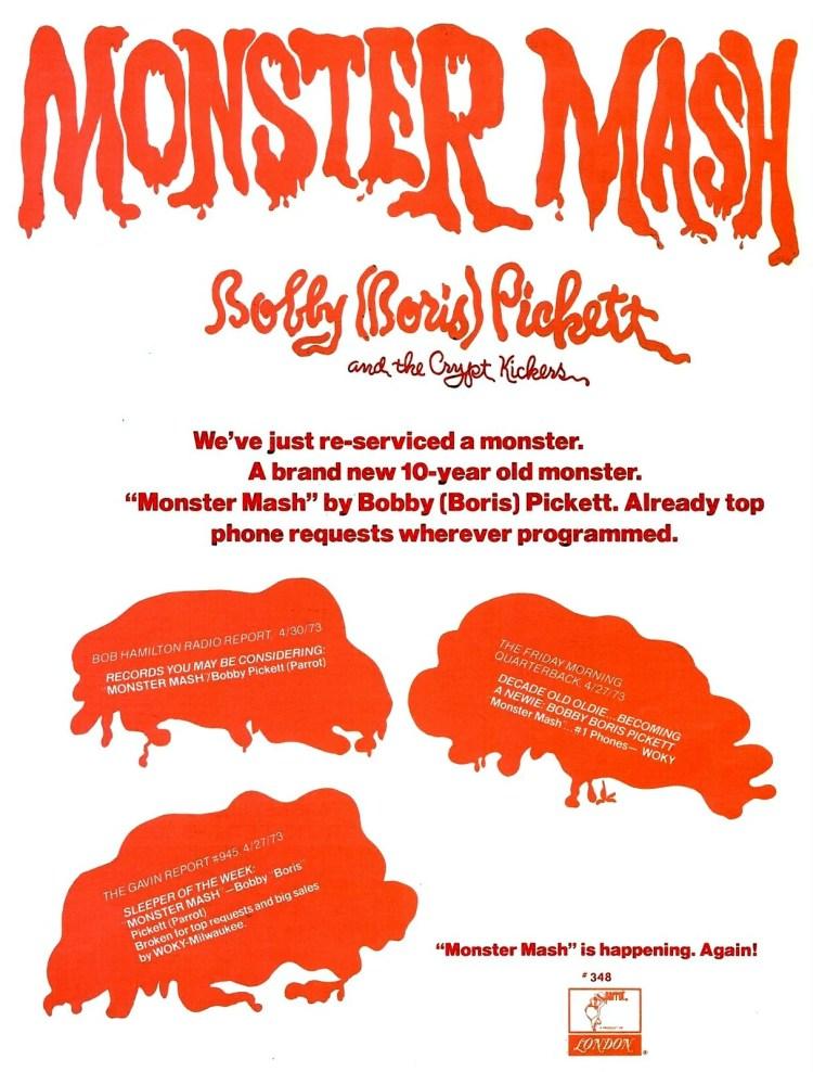 Billboard May 12, 1973 Monster Mash reissue
