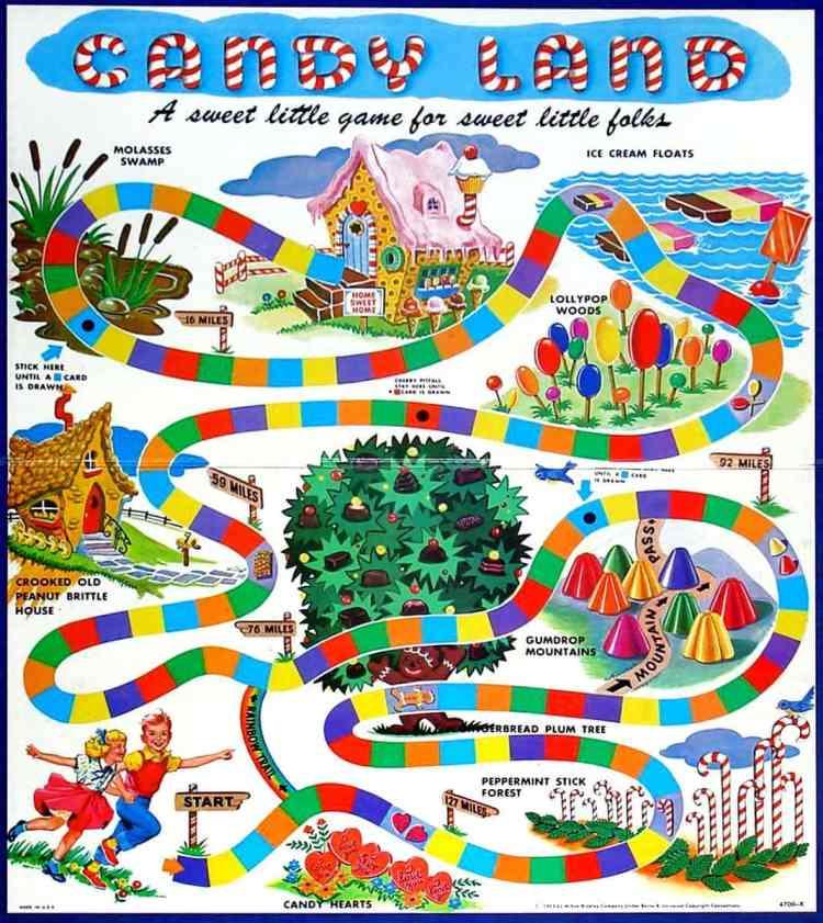Candyland board game 1962