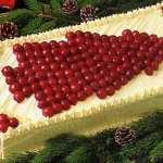 Cherry Christmas tree cake vintage recipe 1986