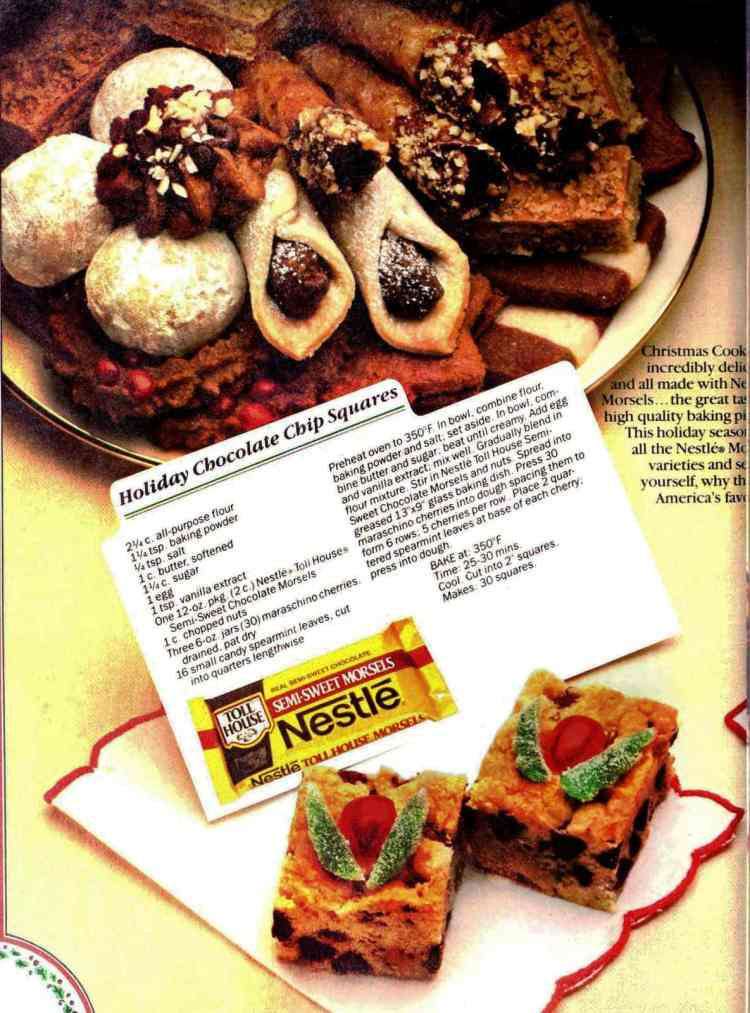 Christmas cookies - vintage recipes from 1985