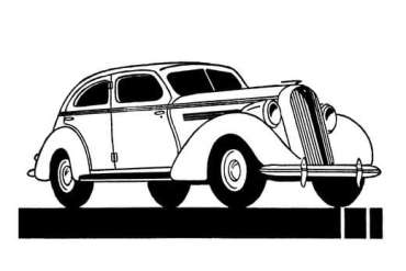 old fashioned cars coloring pages | Click Americana's Shop - See cool fashions, vintage coloring books and more!