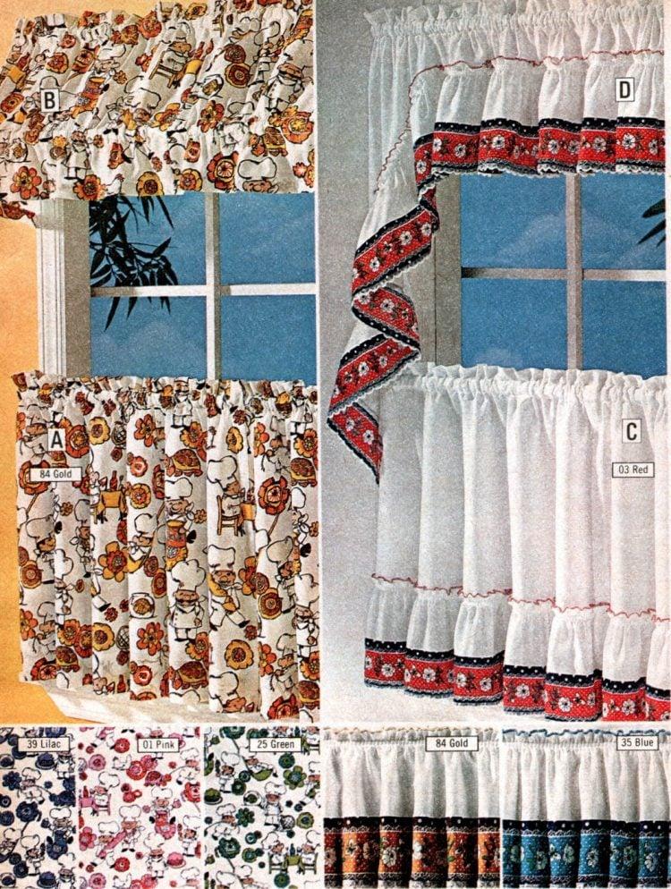 short retro window curtains cafe