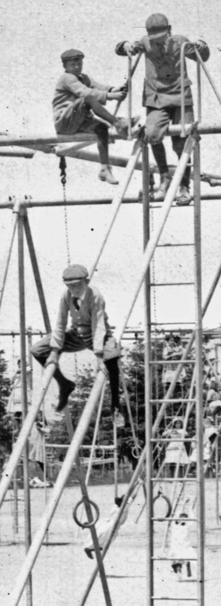 Crazy dangerous old playground from 1912