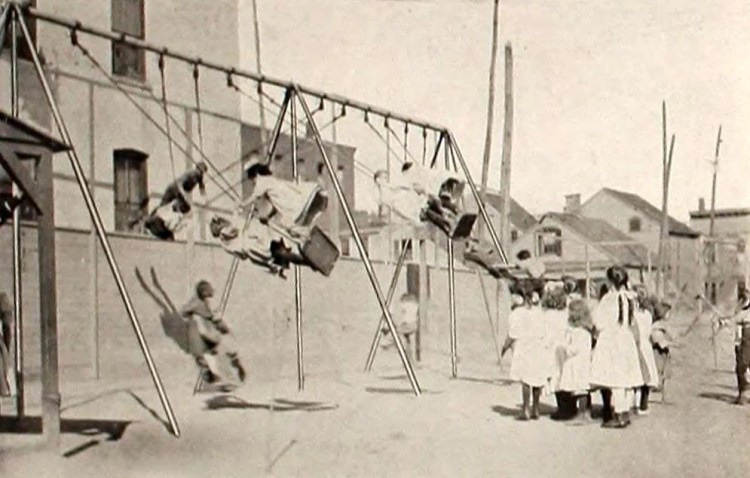 Dangerous old-fashioned playgrounds from the twenties (1)
