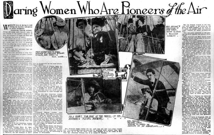 Daring women who are pioneers of the air 1908 - Aviation and airplanes