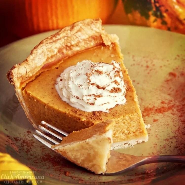 Delicious pie - could be vintage recipe marshmallow pumpkin pie