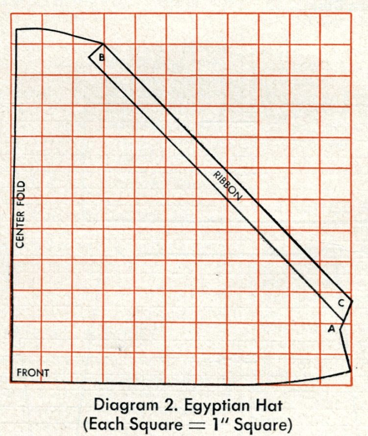 Diagrams - vintage hats you can make - Headwear styles from 1955 (5)
