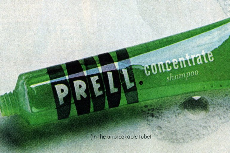 Bright green Prell shampoo