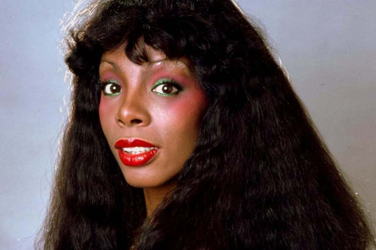 Donna Summer with eyeshadow