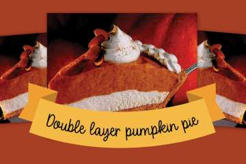 Double layer pumpkin pie