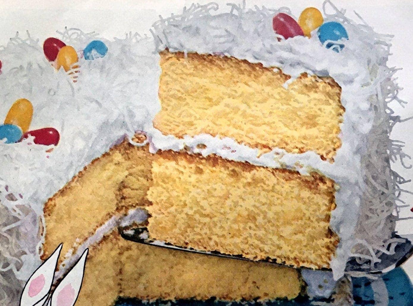 Easter Glory cake recipe (1953) - Click Americana